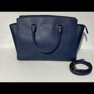 Micheal Kors women's Navy Blue Shoulder Bag